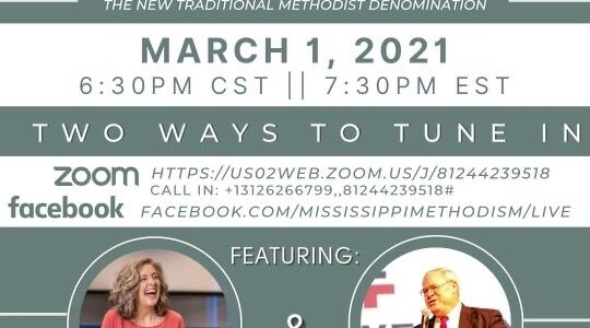 """Join us for """"Methodism's Bright Future"""" on Monday, March 1, 7:30 to 9:00 p.m. (EST)"""